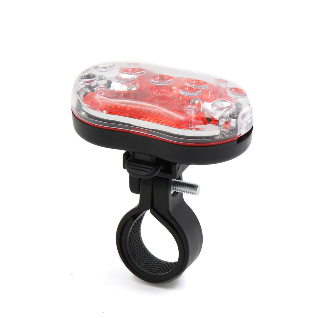 9 Red LEDs Bicycle Cycling Bike Rear Tail Safety Plastic Warning Light Lamp
