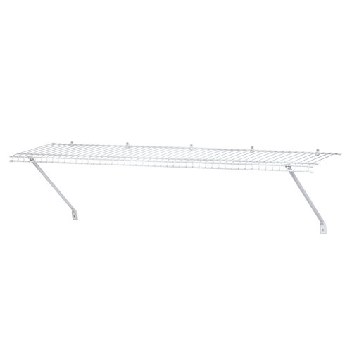 ClosetMaid 3u0027 Ventilated Wire Shelf, White 1031100