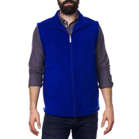 Alpine Swiss Ethan Mens Full Zip Up Fleece Vest Sweater
