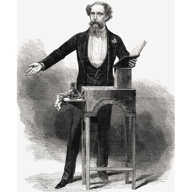 Posterazzi DPI1856454LARGE Charles Dickens 1812 To 1870 English Author Giving A Reading Drawing by George C Leighton In Illustrated London News Poster Print, Large - 26 x 32 - image 1 of 1
