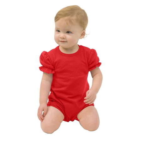 MONAG Infant Ruffle Romper - Pink Monster Onesie