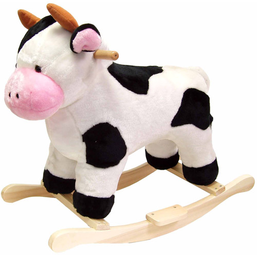 Happy Trails Plush Rocking Animal, Cow