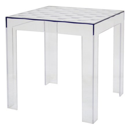 Baxton Studio Parq Clear Acrylic Modern End Table