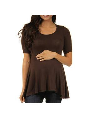 1736a93584b Product Image Women's Maternity 3/4-sleeve Tunic