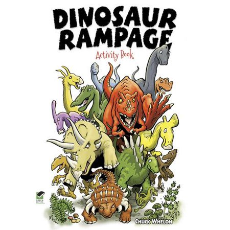 Dover Fun and Games for Children: Dinosaur Rampage Activity Book (Paperback) - Halloween Games Activities