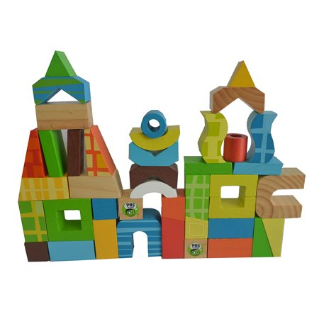 PBS Kids Toy Wooden Blocks 42 pcs –City Building - image 2 of 2