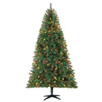 Holiday Time 7.5ft Pre-Lit Kennedy Fir Artificial Christmas Tree with 450 Multicolored Lights (Green)
