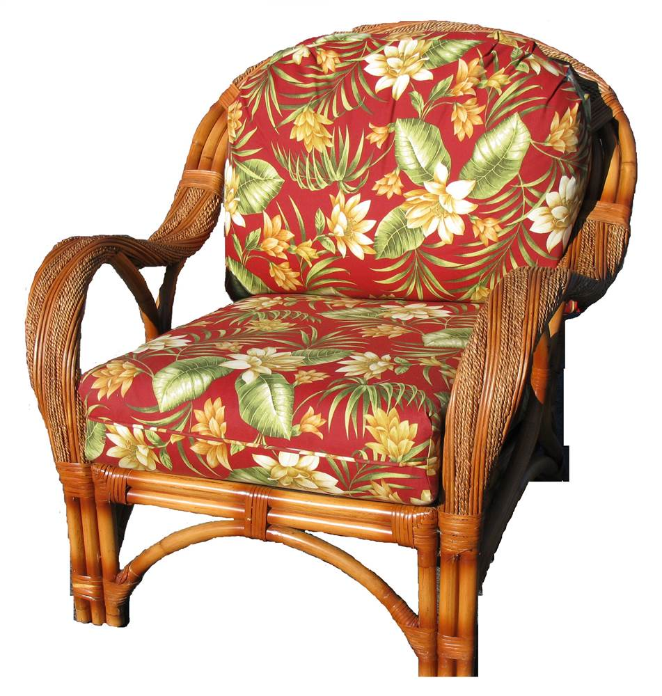 Upholstered Arm Chair in Cinnamon