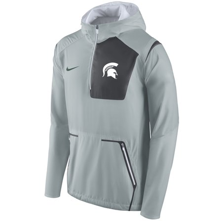 Michigan State Spartans Nike Alpha Fly Rush Half-Zip Pullover Jacket - (Nike Mens Alpha Pro 2 Td Football Cleats)