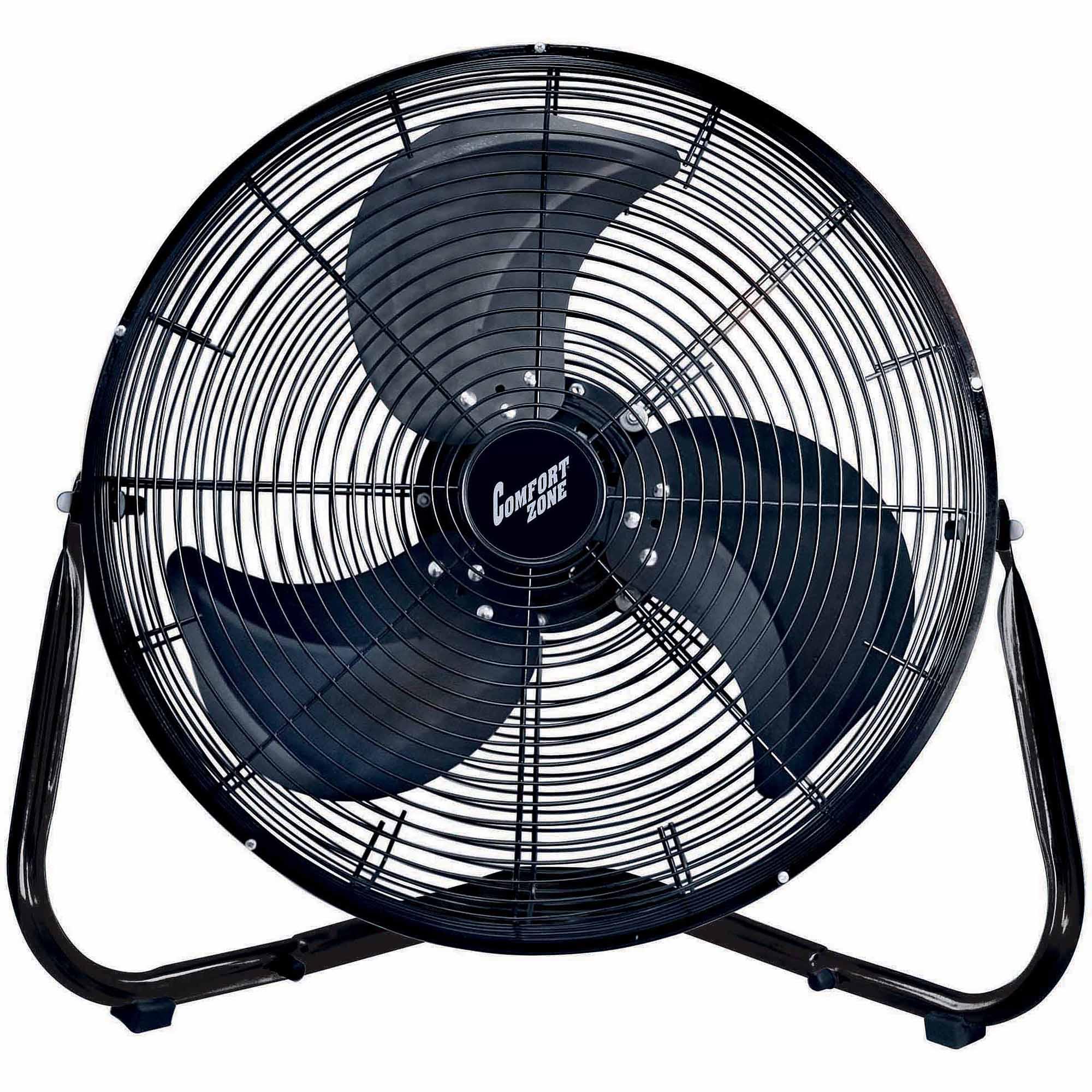 """Comfort Zone 18"""" HV Cradle Floor Fan, Black"""