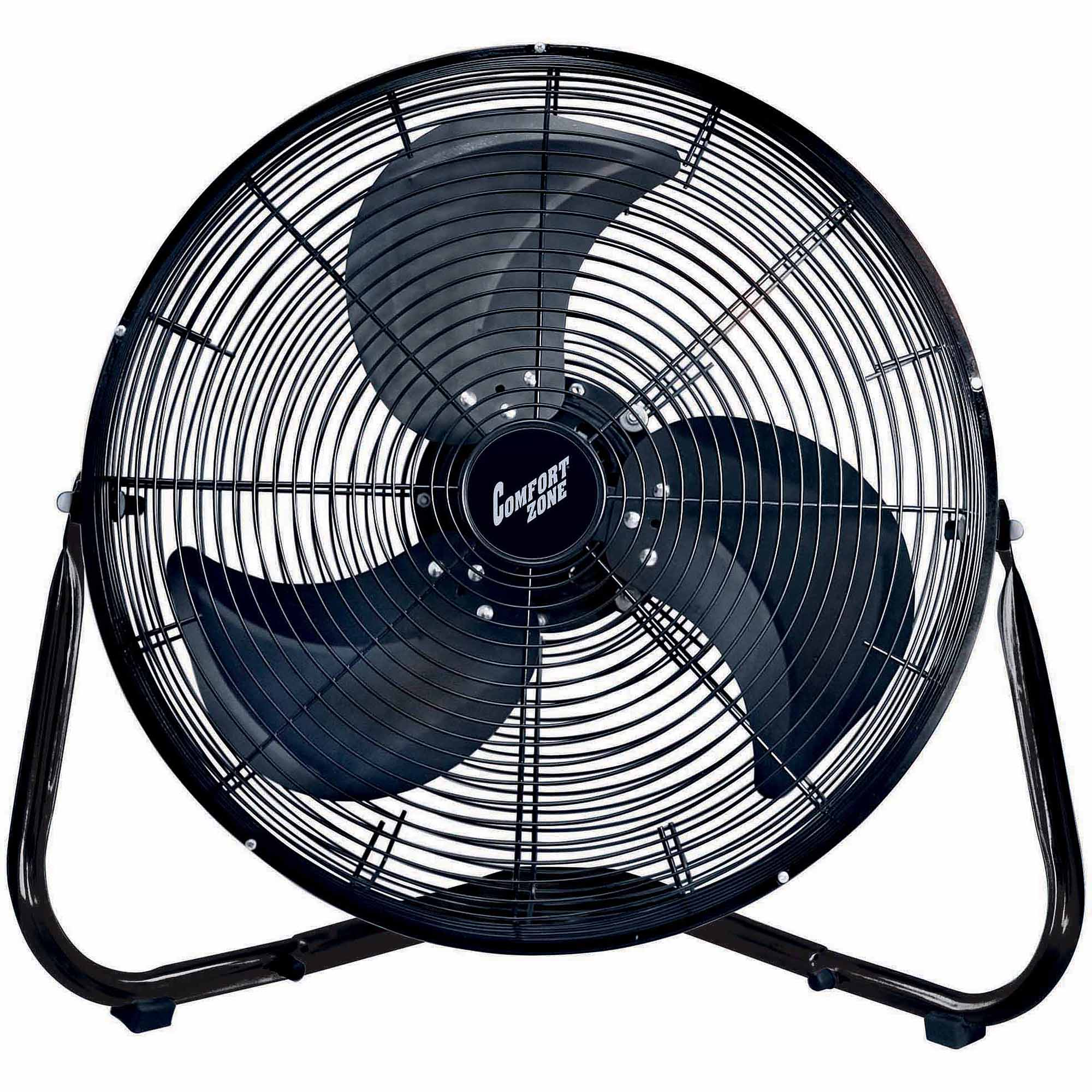 "Comfort Zone 18"" HV Cradle Floor Fan, Black"