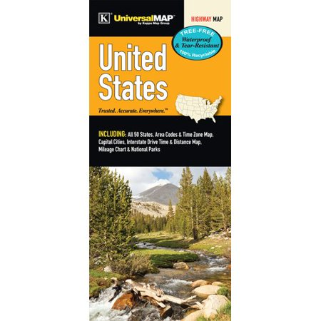 1986 United States Proof - Universal Map United States Waterproof Map