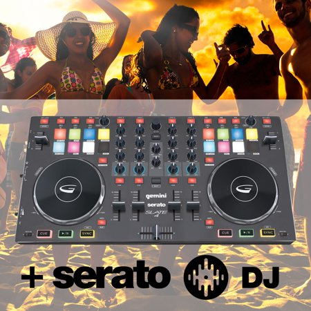 Exclusive Gemini SLATE 4: 4 Channel DJ Controller with Serato DJ + Free Music Bundle