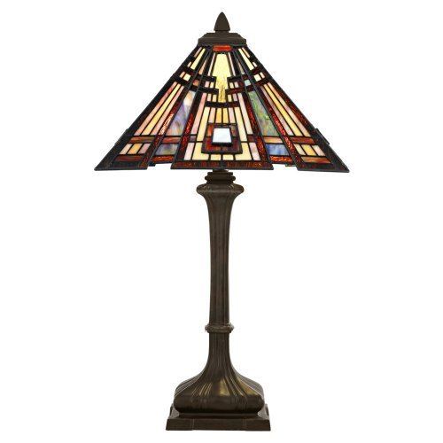 Quoizel Lighting Classic Craftsman Two Light Table Lamp Valiant