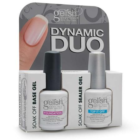 Gelish Dynamic Duo Soak Off Gel Nail Polish - Foundation Base and ...