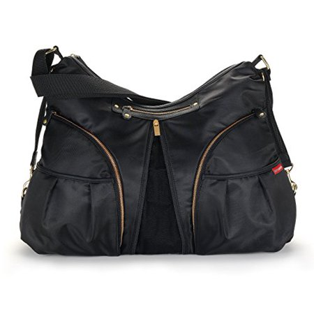Skip Hop Versa Expandable Diaper Bag, Black, 13 x 4 x