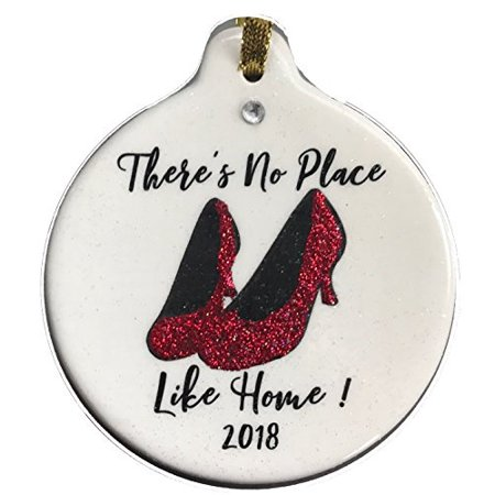 Laurie G Creations There's No Place Like Home 2018 Ruby Red Slippers Ornament Rhinestone Housewarming