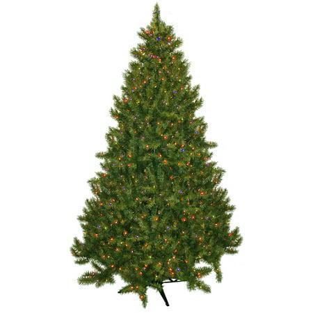 Pre-Lit 7.5' Vermont Fir Artificial Christmas Tree, 700 Multi ...