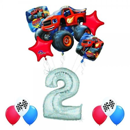 Anagram Blaze and the Monster Machines 2nd Birthday Balloon Decoration Kit by AMZKIT753