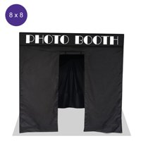 Impact Canopy 8 x 8 Pop Up Portable Photo Booth, Photo Tent, Pop Up Photo Studio Booth, Sidewalls, Roller Bag, Black