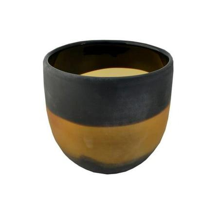 R16 Home Furniture WG-04 Eye of the Tiger Vase, Black & Amber - image 1 of 1
