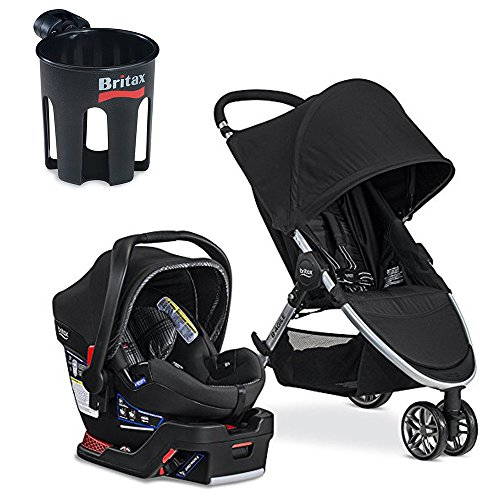 Britax 2017 B-Agile B-Safe 35 Elite Travel System with Cup Holder, Domino by Britax