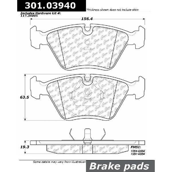 Go-Parts OE Replacement for 1993-1994 BMW 740i Front Disc