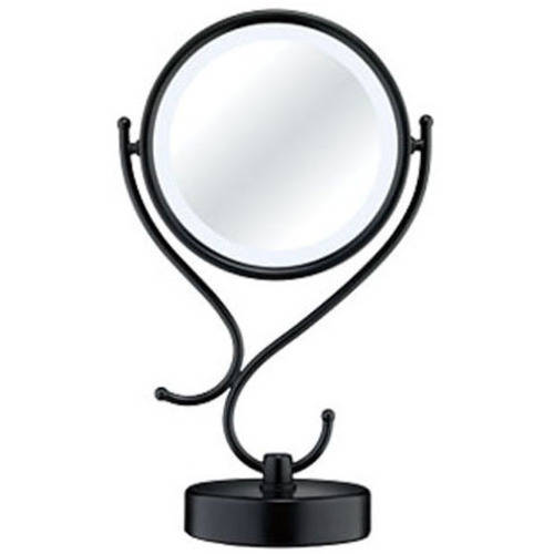 Conair Fluorescent Lighting Black Double-Sided Mirror