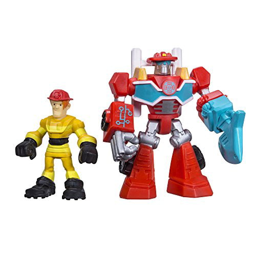 Playskool Heroes Transformers Rescue Bots Heatwave the Fire-Bot and Kade Burns Figure Pack by Hasbro