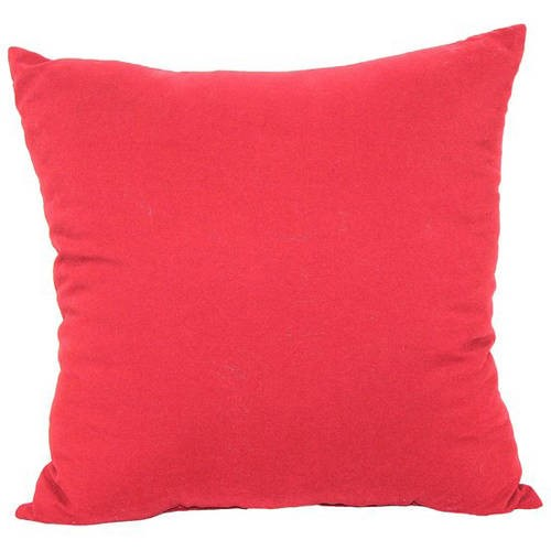 "Mainstays Microfiber Twill Accent Decorative Throw Pillow, 16"" x 16"", Red"