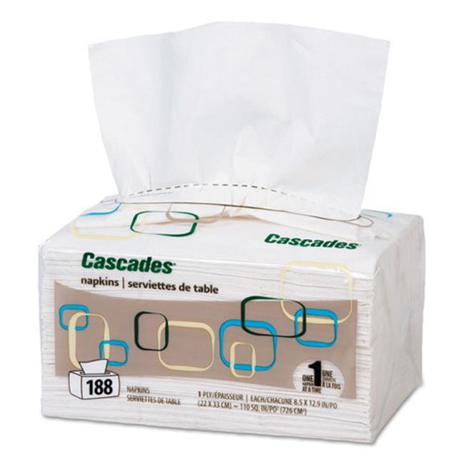Csd 2410 Cascades for ServOne Napkins 1-Ply - White