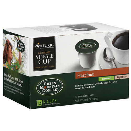 Green Mountain Coffee Roasters Hazelnut K-Cups Coffee, 4.02 oz, 12ct (Pack of 6)