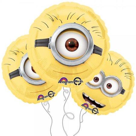 Minion Balloons (Despicable Me Minion 18 Round Mylar Balloon)