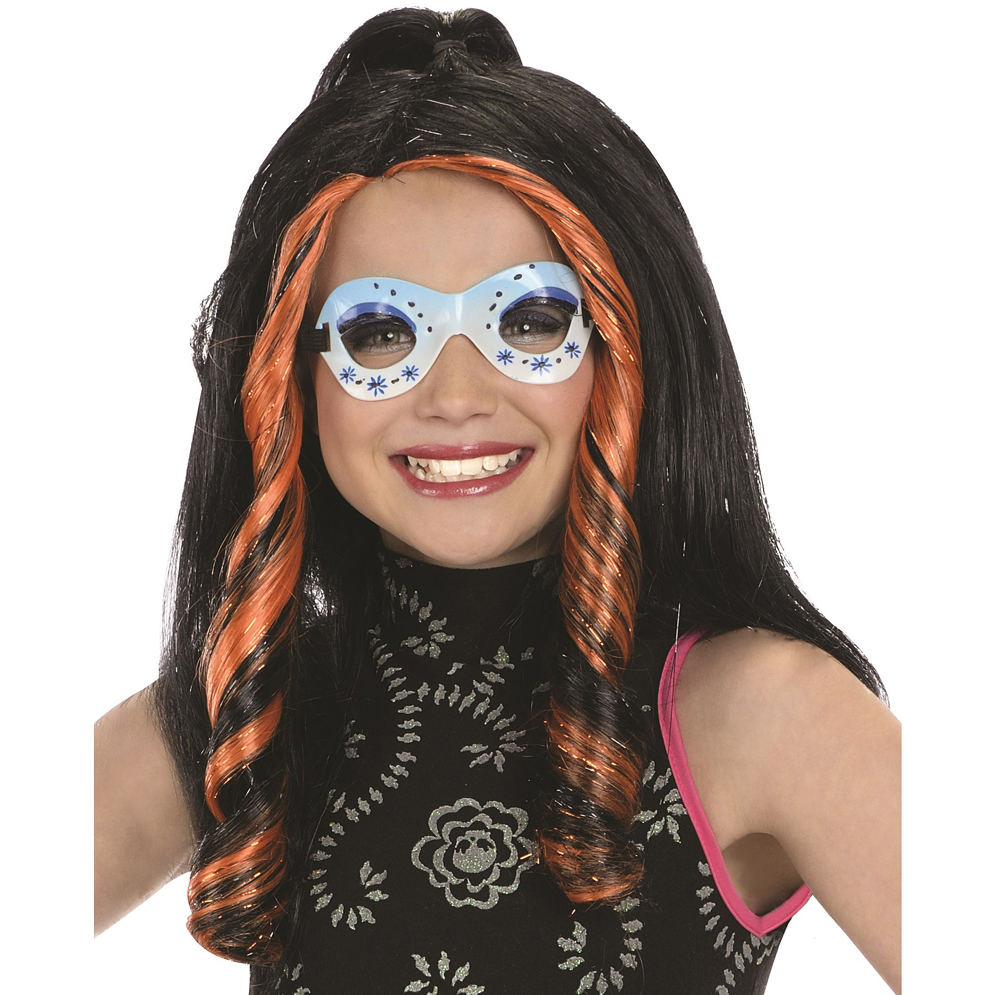 Monster High Skelita Calaveras Wig Halloween Costume Accessory
