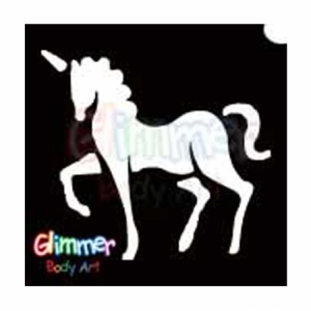 Glitter Tattoo Stencils - Unicorn (5/pack), Glimmer Body Arts Glitter Tattoo Stencils are non-latex, hypoallergenic and meet all cosmetic.., By Glimmer Body Art Ship from US (Unicorn Tattoo)