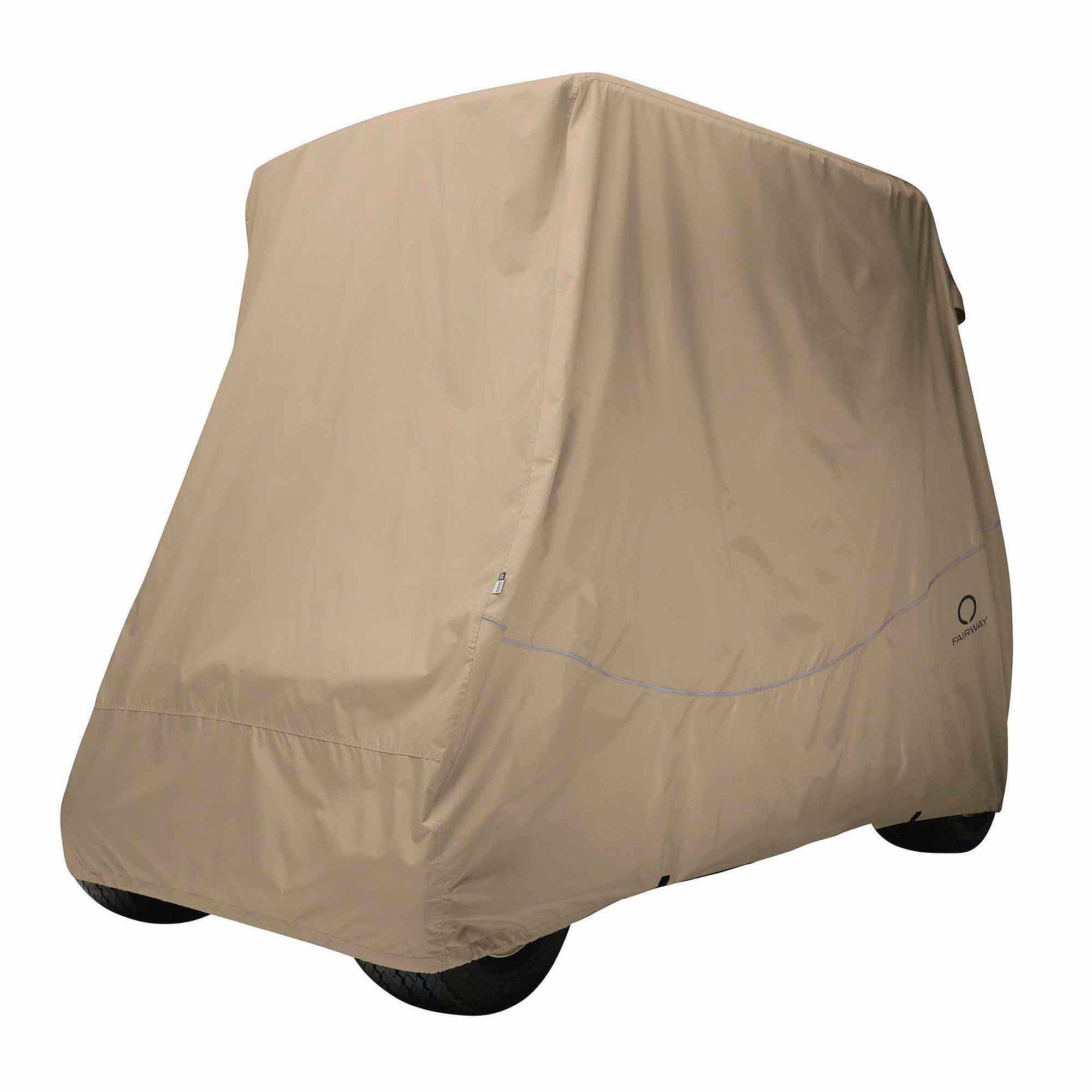 Classic Fairway Golf Cart Quick-Fit Cover Short Roof Khaki by Classic Accessories