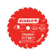 Diablo Tracking Point 7-1/4 in. Dia. x 5/8 in. Carbide Saw Blade 24 teeth 1 pc.