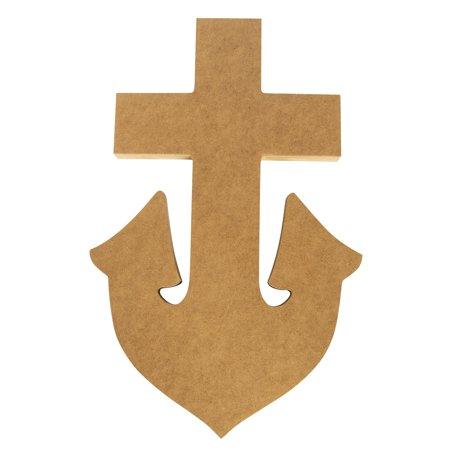 Delta Gamma Large Anchor Mascot Wood Plaque Board