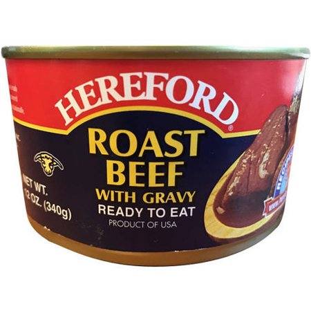 (2 Pack) Hereford Roast Beef with Gravy, 12 oz (Hereford Beef)