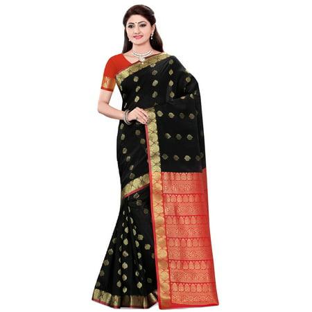 Sonal Black Art Silk Sari Saree Bellydance Wrap