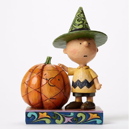 Jim Shore Peanuts It's Halloween Charlie Brown with Pumpkin Figurine 4045889 - Jim Shore Halloween Figurines