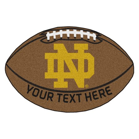 Personalized Notre Dame Football Mat (Personalized Footballs)