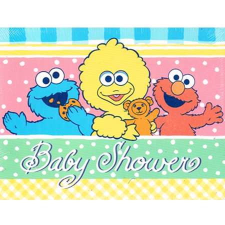 Baby Sesame Street Vintage 1998 'Playtime' Invitations w/ Envelopes (8ct)](Sesame Street Baby Shower Invitations)