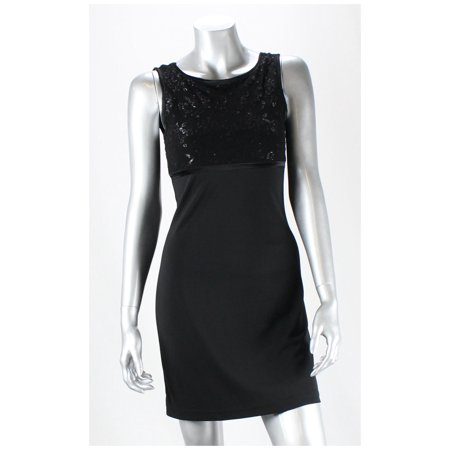 Byer Too! California  Black Sleeveless Textured Dress
