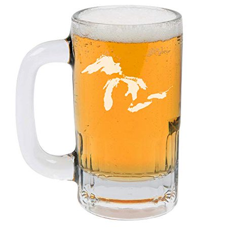 12oz Beer Mug Stein Glass Great Lakes Michigan