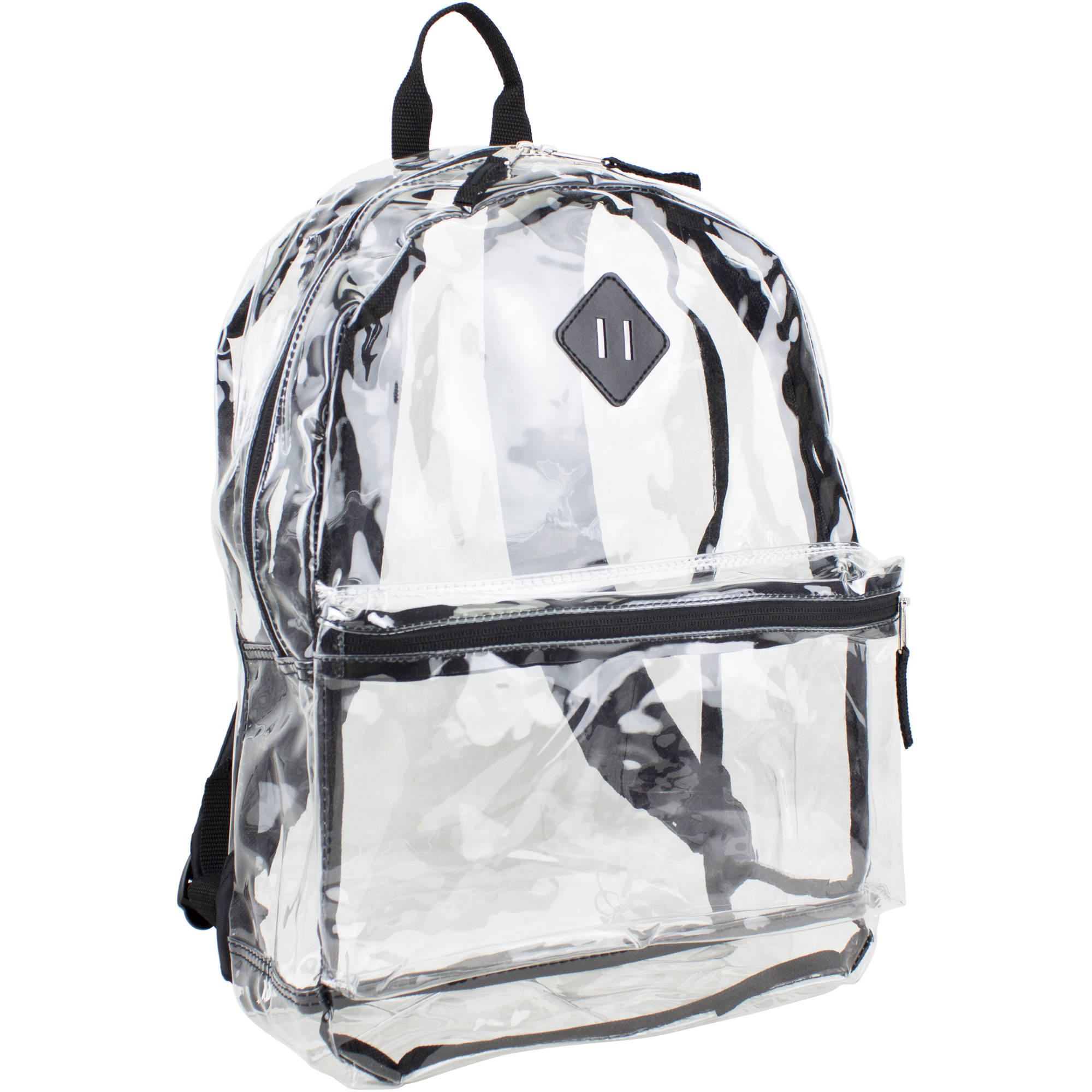 Eastsport Clear Backpack with Front Pocket, Adjustable Straps and Lash Tab