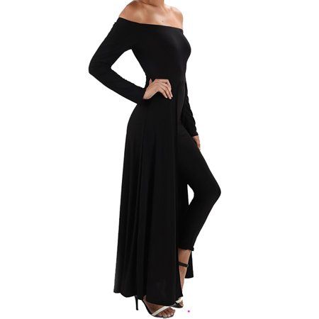 Funfash Plus Size Women Gothic Black Pants Leggings Cape Dress Jumpsuit Jumper (Gothic Masquerade Dresses)