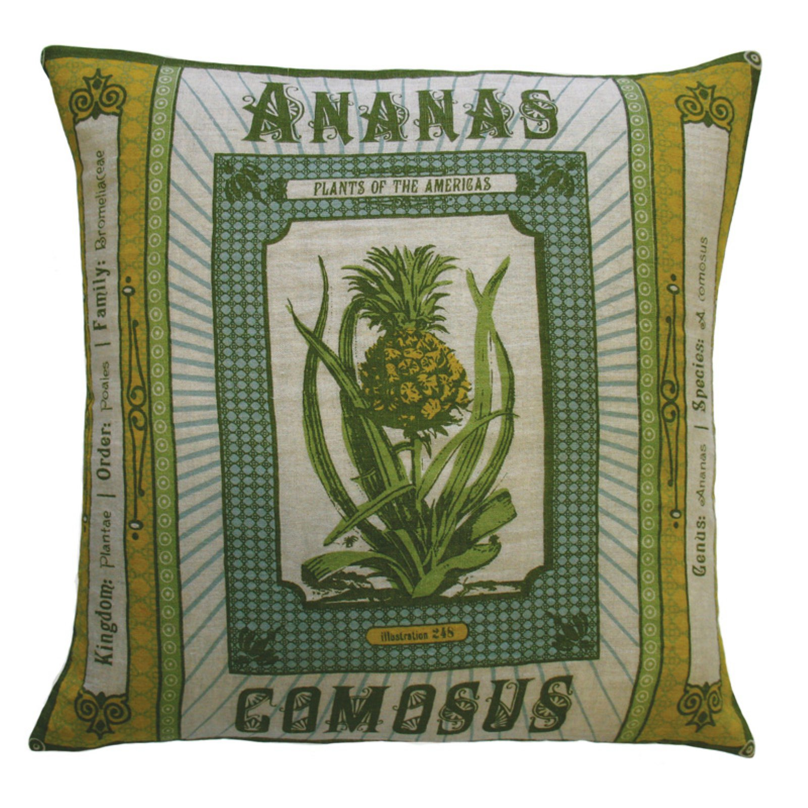 Koko Company Botanica Ananas Comosus Decorative Pillow