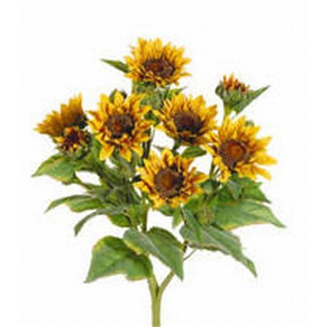 FBS456-YE 22 inch Yellow Sunflower Bush X9- Case of 4