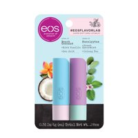 eos flavorlab Beach Coconut and Eucalyptus Stick Lip Balm 2- pack 0.28 oz